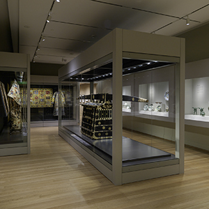 SmallCorp wall and freestanding cases, Rhode Island School of Design Museum