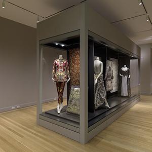 18 foot long glass microclimate case, Rhode Island School of Design Museum