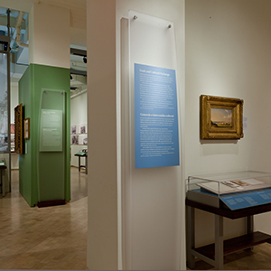 Intro panels, cases and graphic screen, The New-York Historical Society, presented at El Museo del Barrio
