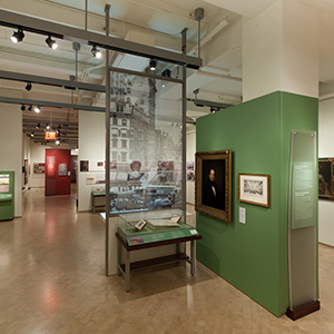 Custom cases, intro panels andinteractives, The New-York Historical Society, presented at El Museo del Barrio