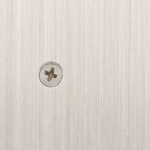 #4 screw on brushed aluminum frame
