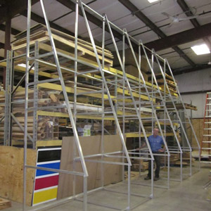 24 foot wide x 16 foot tall modular easel for NY state Civil War battle flag