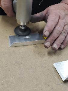 Sanding Aluminum Frame Piece